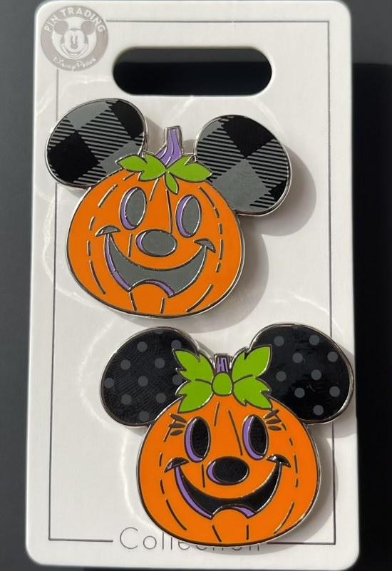 Mickey & Minnie Pumpkin Halloween 2021 Pin Set