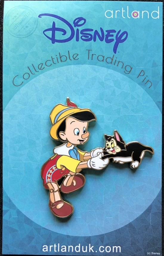 Pinocchio and Figaro ArtLand Disney Pin