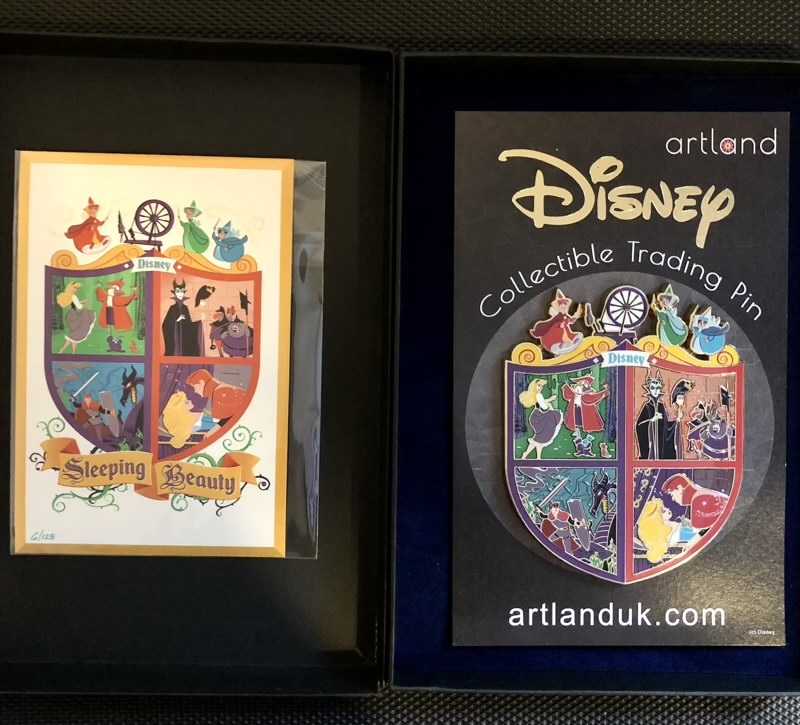 Sleeping Beauty Crest ArtLand Disney Pin with Art