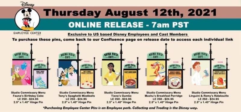 Studio Commissary Disney Employee Center Pins