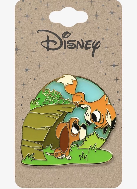 The Fox and the Hound Chibi Playtime BoxLunch Disney Pin