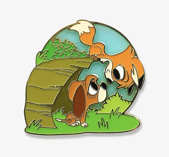 The Fox and the Hound Chibi Playtime BoxLunch Pin