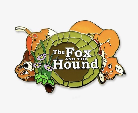 The Fox and the Hound Logo Spinner BoxLunch Pin