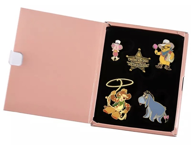 Winnie the Pooh Paw and Order Pin Set at Disney Store Japan