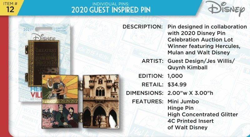 2020 Guest Inspired Pin - Disney Heroes Vs. Villains Event