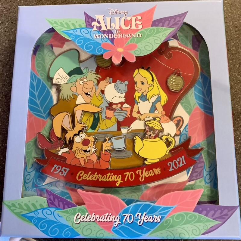 Alice in Wonderland 70th Anniversary Jumbo Pin - Disney Parks