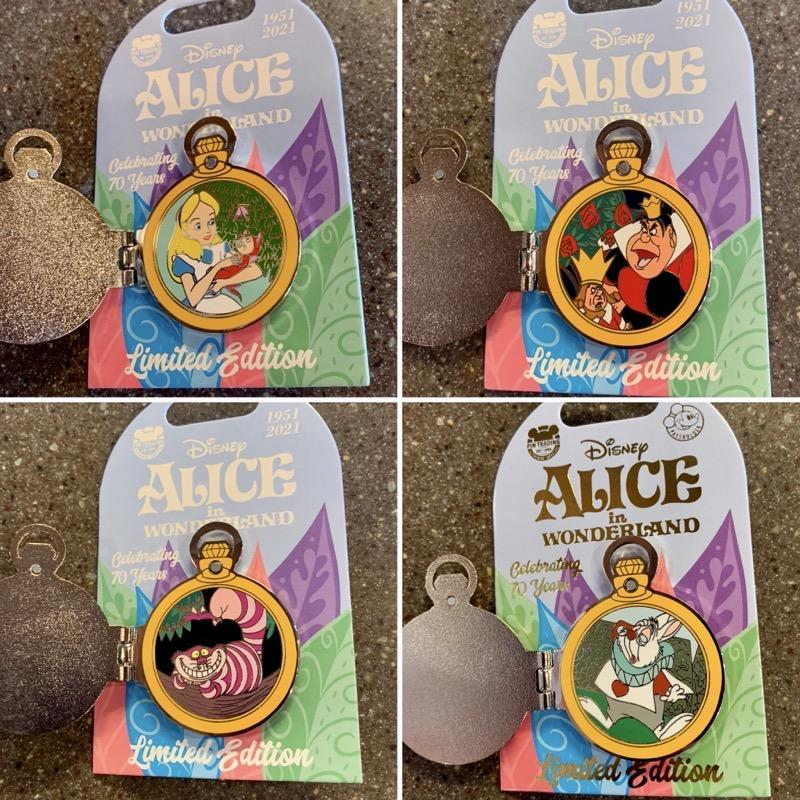 Alice in Wonderland 70th Anniversary Pins - Disney Parks