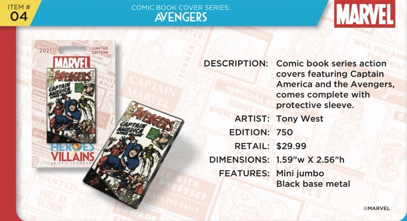 Avengers Comic Book Pin - Disney Heroes Vs. Villains Event