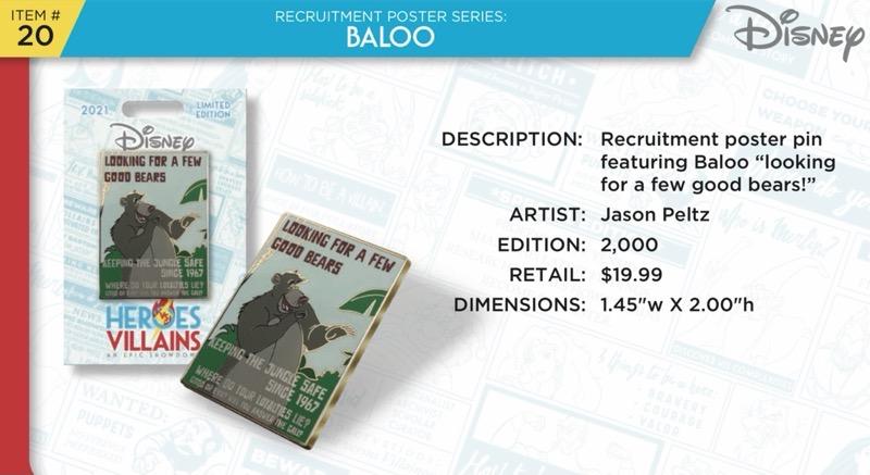 Baloo Pin - Disney Heroes Vs. Villains Event