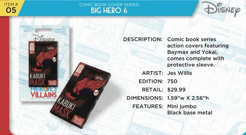 Big Hero 6 Comic Book Pin - Disney Heroes Vs. Villains Event
