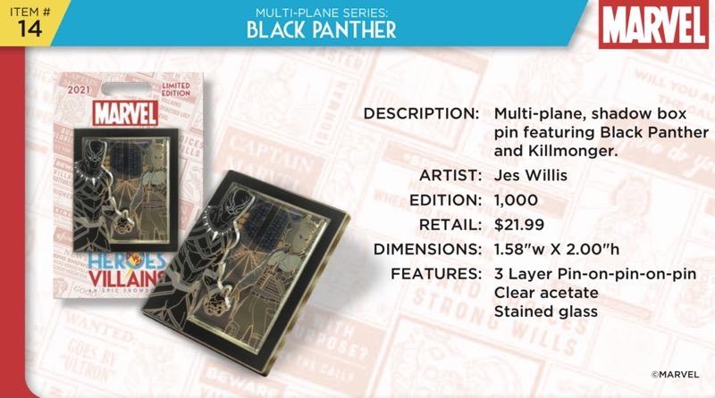 Black Panther Pin - Disney Heroes Vs. Villains Event