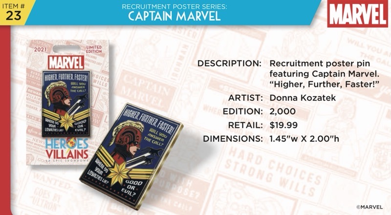 Captain Marvel Pin - Disney Heroes Vs. Villains Event
