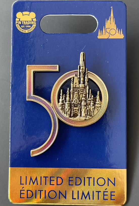 Cinderella Castle WDW 50 Logo Pin