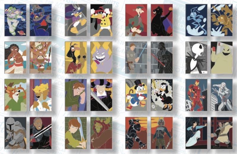 Disney Heroes Vs. Villains Mystery Pins