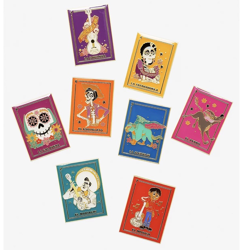 Disney Pixar Coco Loteria Cards Blind Box Pin Set at BoxLunch
