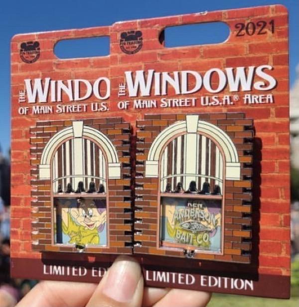 Dopey – Windows of Main Street U.S.A® Area Disney Pin