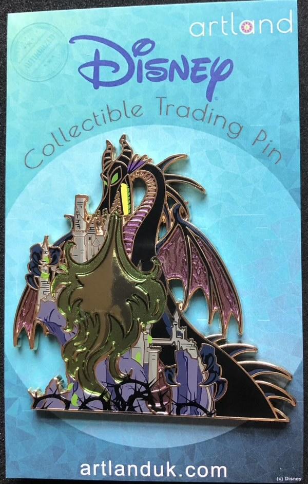 Dragon and Castle ArtLand Disney Pin