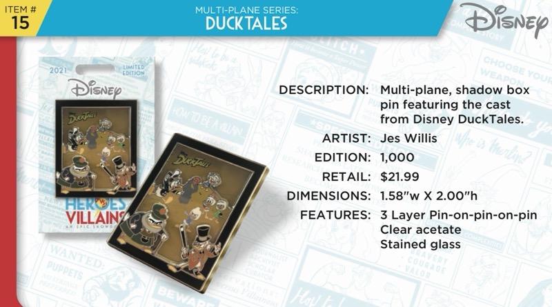 DuckTales Pin - Disney Heroes Vs. Villains Event