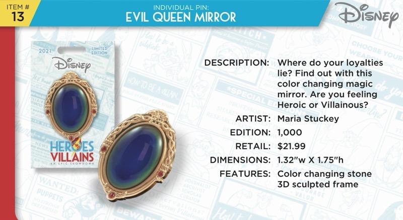 Evil Queen Mirror Pin - Disney Heroes Vs. Villains Event