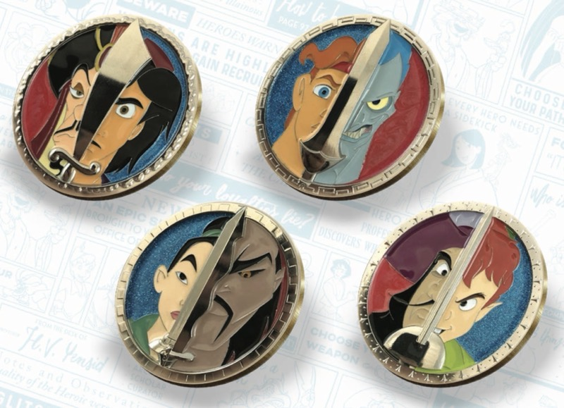 Face to Face Pin Set - Disney Heroes Vs. Villains Event