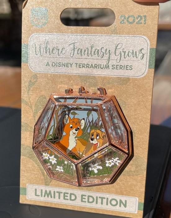 Fox and the Hound Terrarium Disney Pin