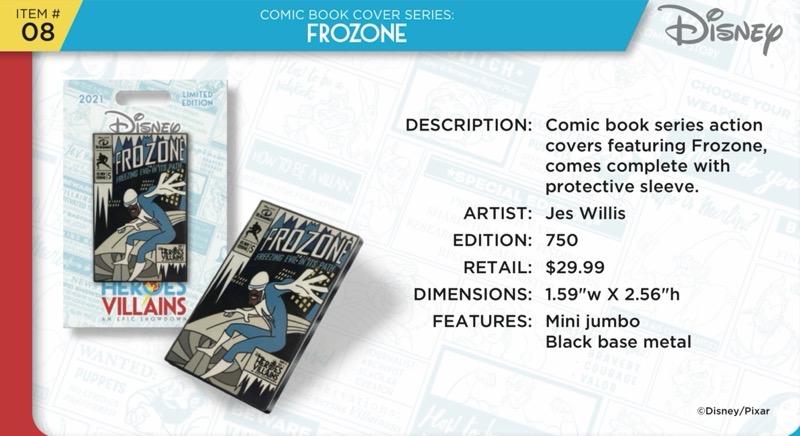 Frozone Comic Book Pin - Disney Heroes Vs. Villains Event
