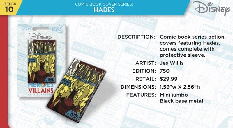 Hades Comic Book Pin - Disney Heroes Vs. Villains Event