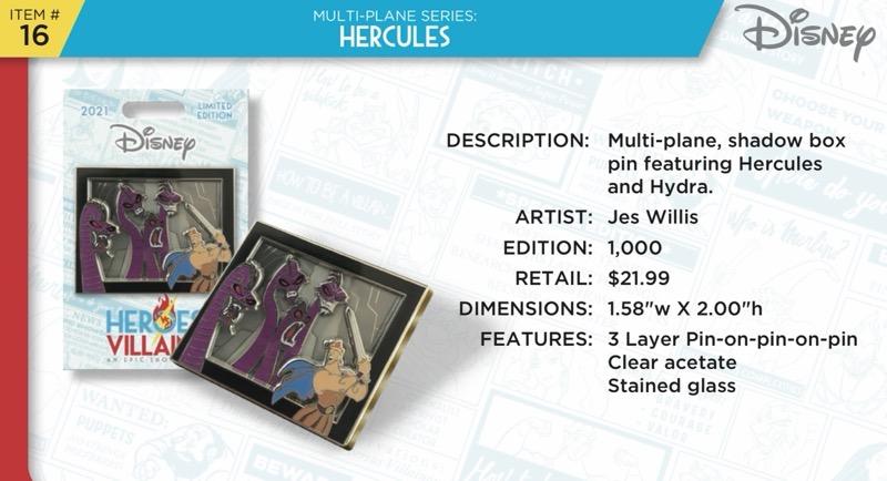Hercules Pin - Disney Heroes Vs. Villains Event