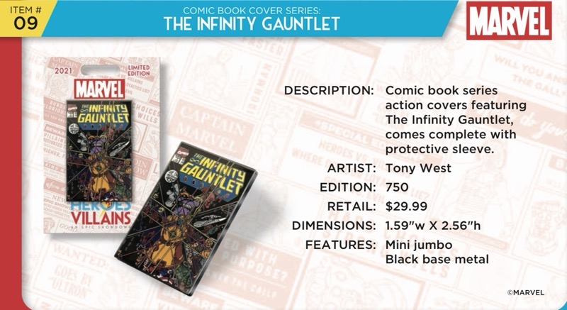 Infinity Gauntlet Comic Book Pin - Disney Heroes Vs. Villains Event