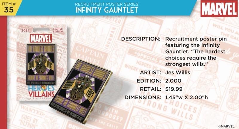 Infinity Gauntlet Pin - Disney Heroes Vs. Villains Event