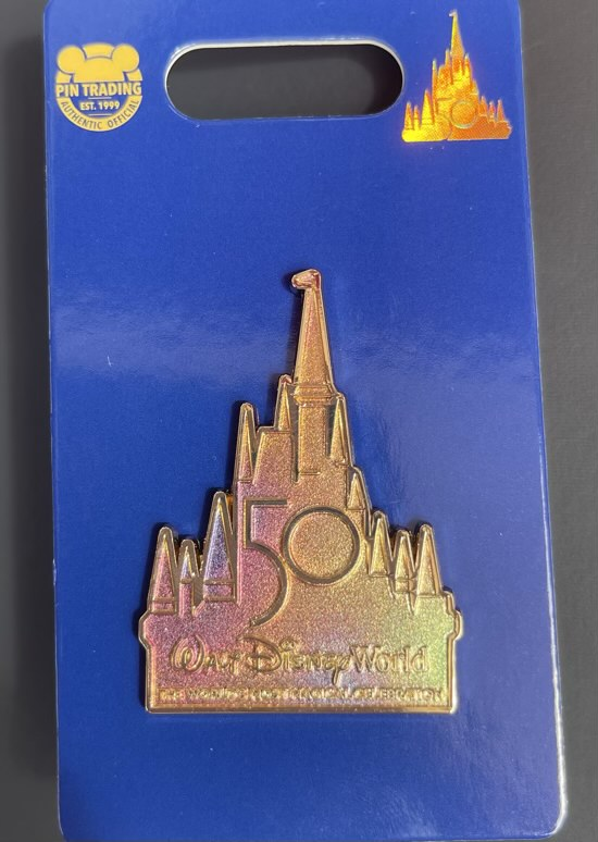 Iridescent Castle Walt Disney World 50th Pin