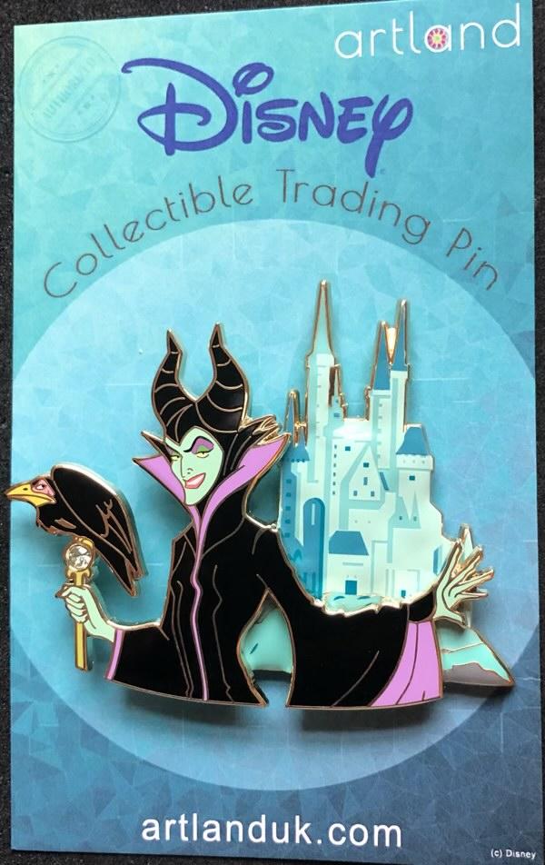 Maleficent and Castle ArtLand Disney Pin