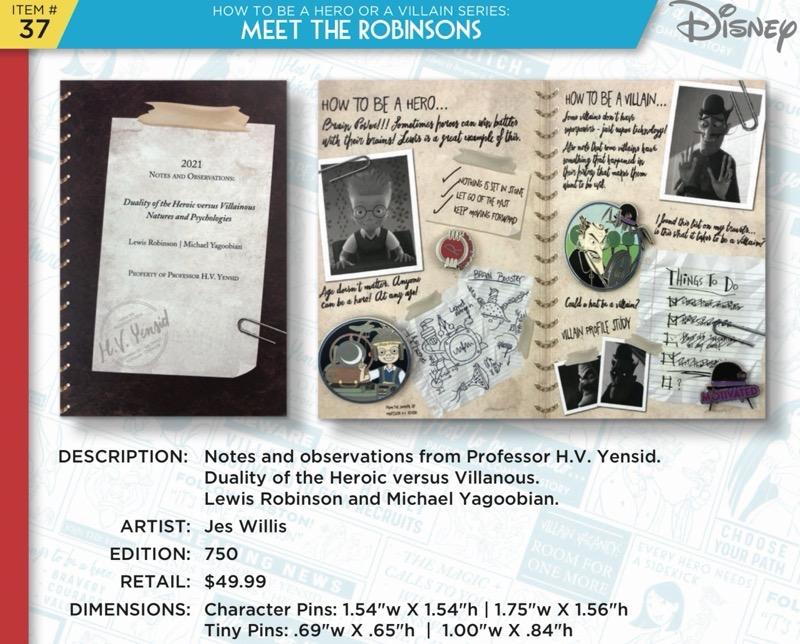 Meet the Robinsons Pin Set - Disney Heroes Vs. Villains Event