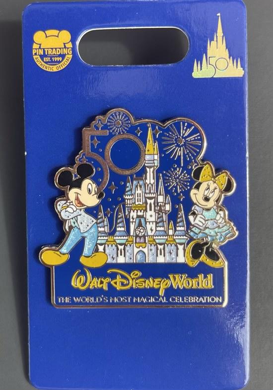 Mickey &. Minnie Walt Disney World 50th Anniversary Pin