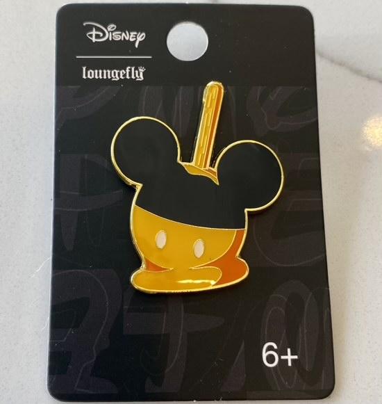 Mickey Candy Apple Pin at Hot Topic