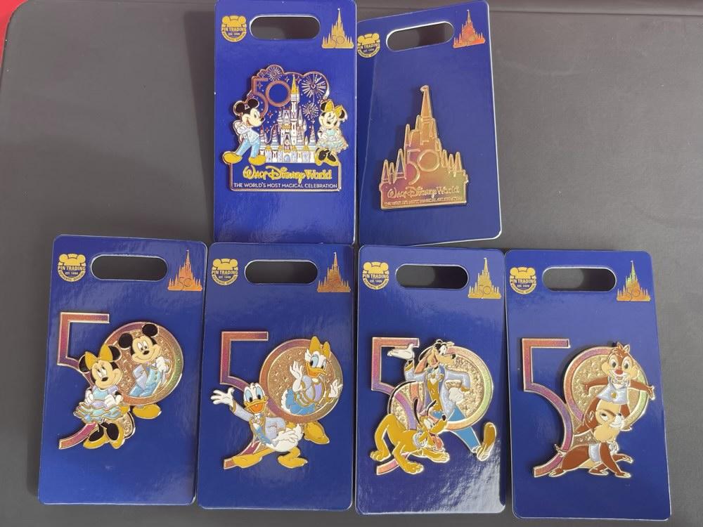 Mickey & Friends Walt Disney World 50th Anniversary Open Edition Pins