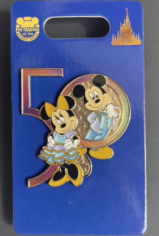 Mickey & Minnie Walt Disney World 50th Pin