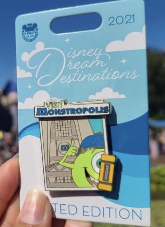 Mike Wazowski Disney Dream Destinations Pin
