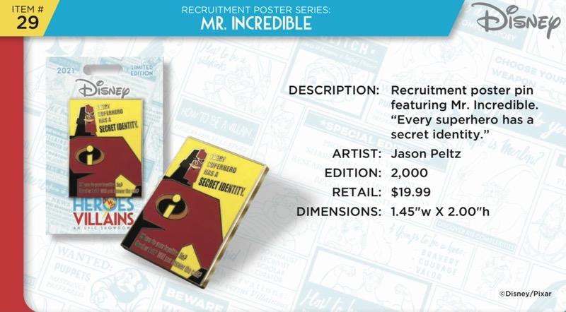 Mr. Incredible Pin - Disney Heroes Vs. Villains Event