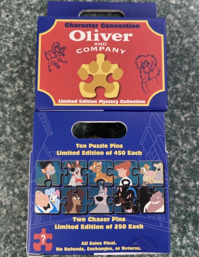 Oliver and Company Character Connection Mystery Pin Set