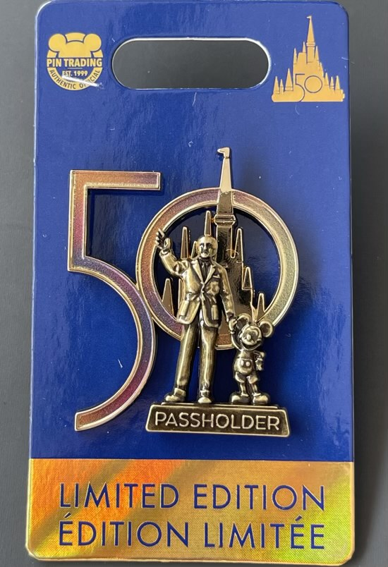 Partners Statue WDW 50th Annual Passholder Pin