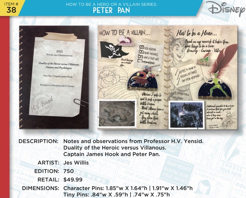 Peter Pan Pin Set - Disney Heroes Vs. Villains Event