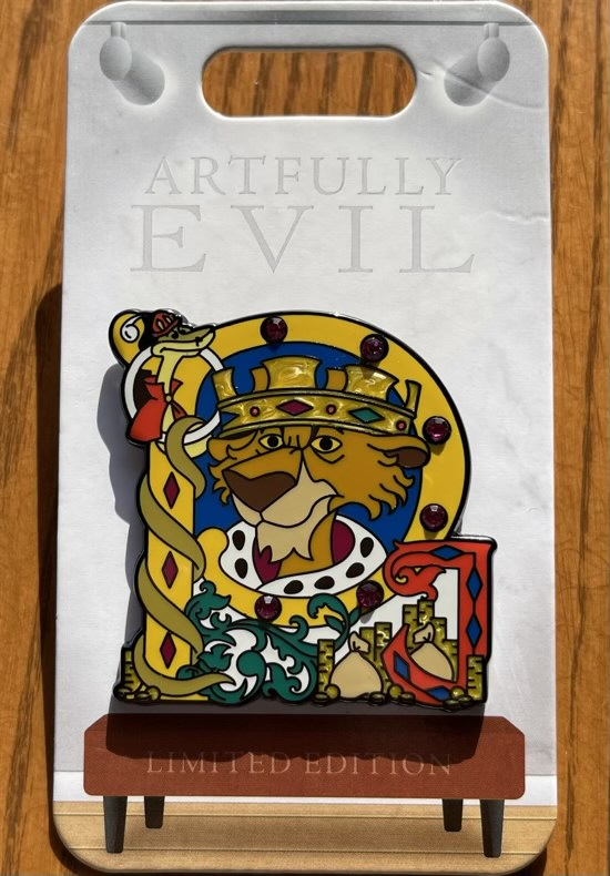 Prince John Artfully Evil Disney Pin