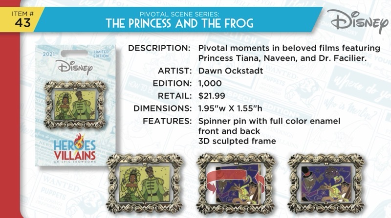 Princess and the Frog Pin - Disney Heroes Vs. Villains Event