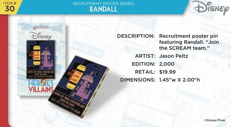 Randall Pin - Disney Heroes Vs. Villains Event