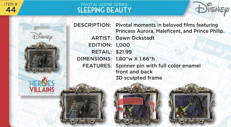 Sleeping Beauty Pin - Disney Heroes Vs. Villains Event