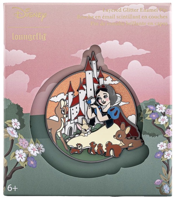 Snow White Glitter Limited Edition Loungefly Disney Pin
