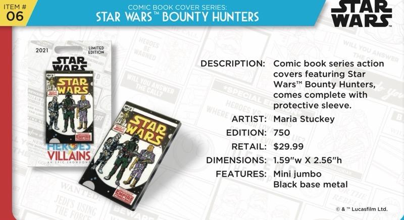 Star Wars Bounty Hunters Comic Book Pin - Disney Heroes Vs. Villains Event