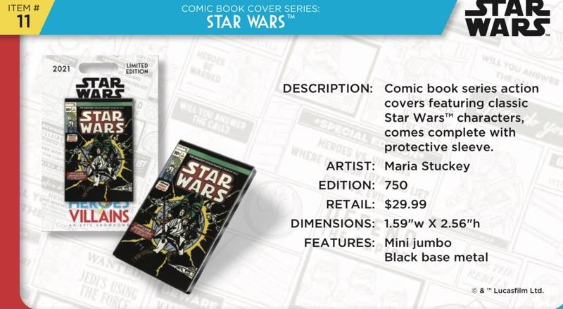 Star Wars Comic Book Pin - Disney Heroes Vs. Villains Event