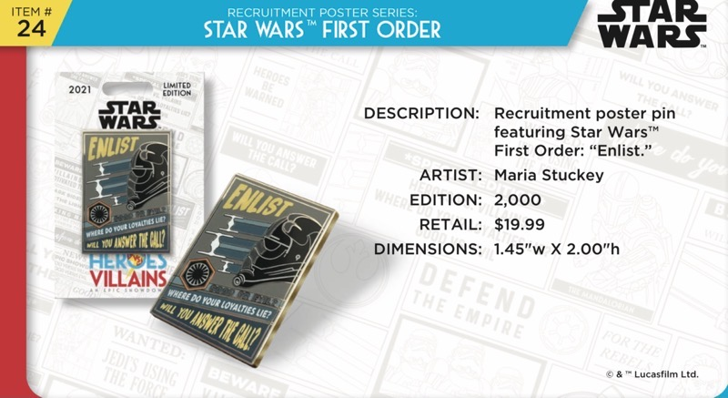 Star Wars First Order Pin - Disney Heroes Vs. Villains Event